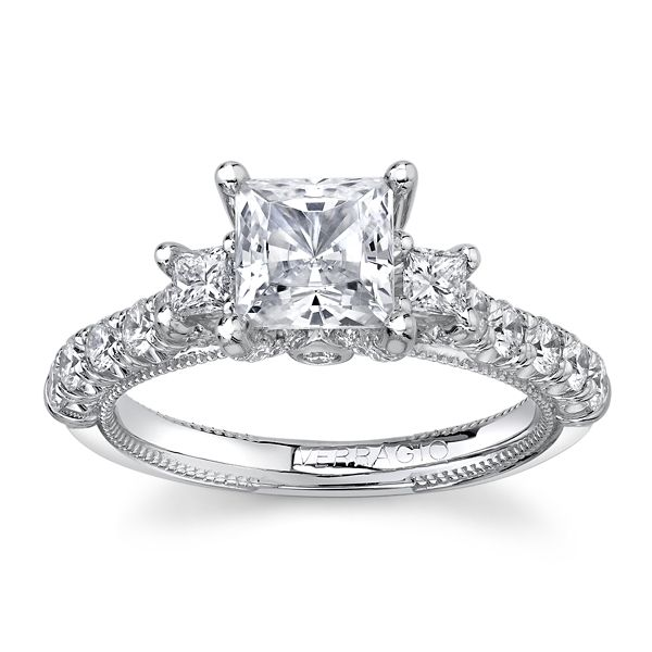 Verragio 14k White Gold Diamond Engagement Ring Setting 7/8 ct. tw.