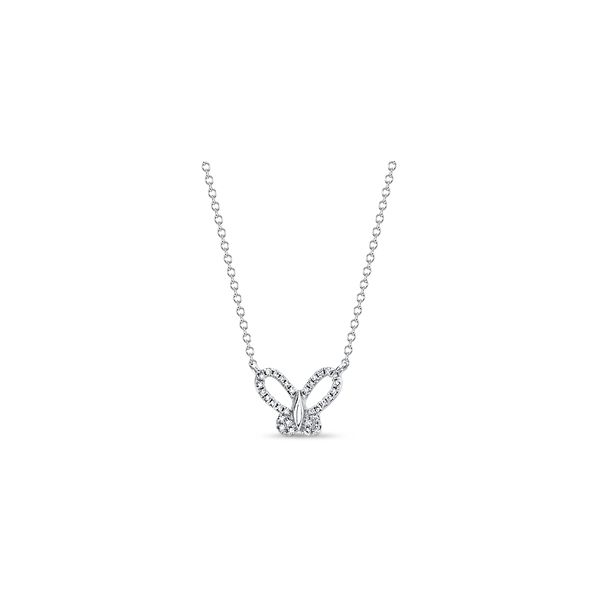 Shy Creation 14k White Gold Necklace 0.07 ct. tw.
