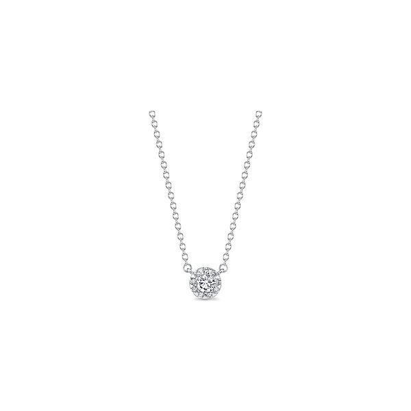 Memoire 18k White Gold Necklace 1/6 ct. tw.