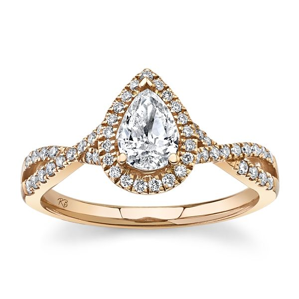 Poem 14k Rose Gold Diamond Engagement Ring 3/4 ct. tw.
