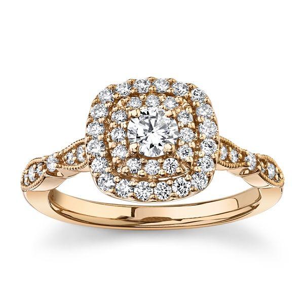 Cherish 10k Rose Gold Diamond Engagement Ring 5/8 ct. tw.