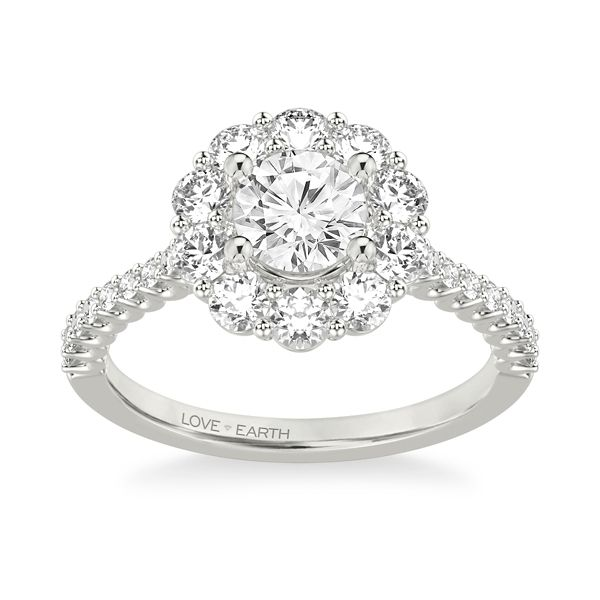 Love Earth 14k White Gold Diamond Engagement Ring Setting 1 ct. tw.