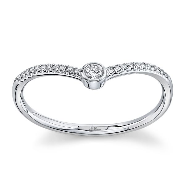 Shy Creation 14k White Gold Diamond Wedding Ring .07 ct. tw.