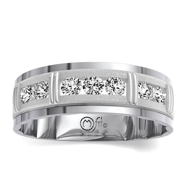 MFit 14k White Gold Diamond Wedding Band 1/2 ct. tw.