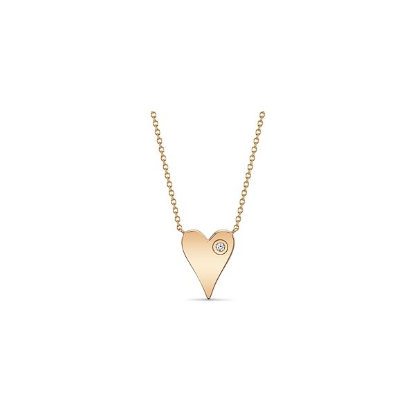 Shy Creation 14k Rose Gold Necklace 0.02 ct. tw.