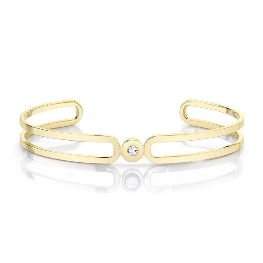 Michael M. 14k Yellow Gold Bracelet .07 ct. tw.