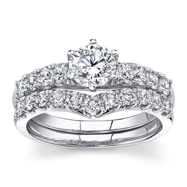 Eternalle Lab-Grown 14k White Gold Diamond Wedding Set 1 1/2 ct. tw.