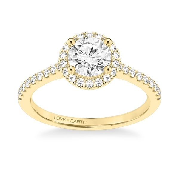 Love Earth 14k Yellow Gold Diamond Engagement Ring Setting 1/4 ct. tw.