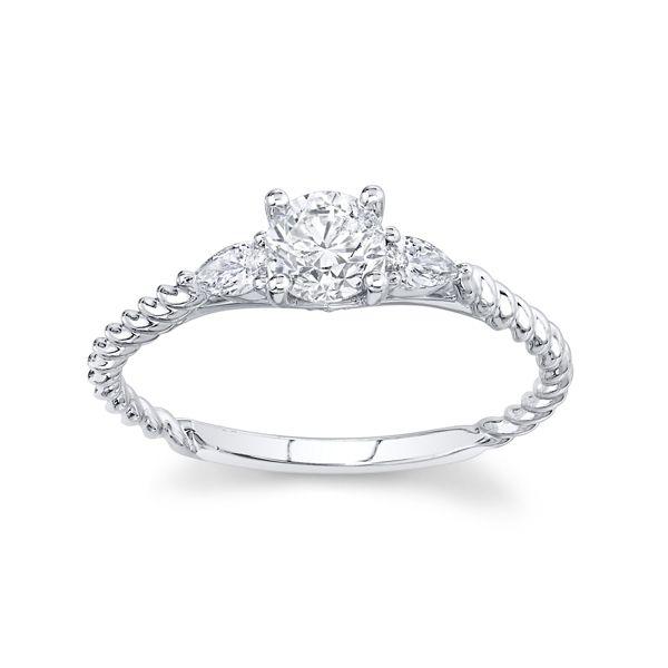 Utwo 14k White Gold Diamond Engagement Ring 5/8 ct. tw.