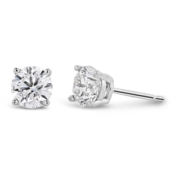 Eternalle Lab-Grown 14k White Gold Solitaire Earrings 1 ct. tw.