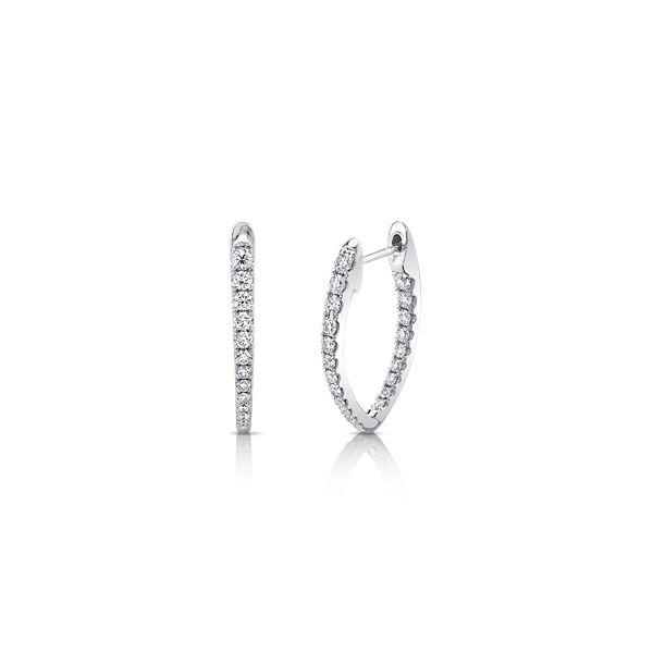 Memoire 18k White Gold Earrings 3/4 ct. tw.