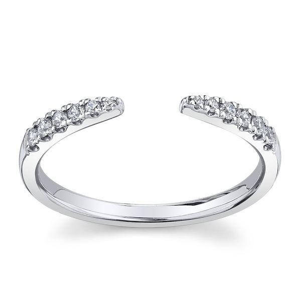 14k White Gold Diamond Guard 1/6 ct. tw.