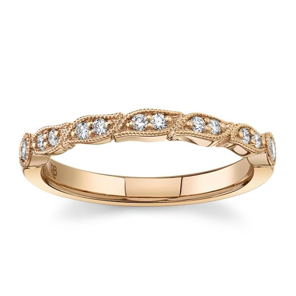 RB Signature 14k Rose Gold Diamond Wedding Band 1/6 ct. tw.