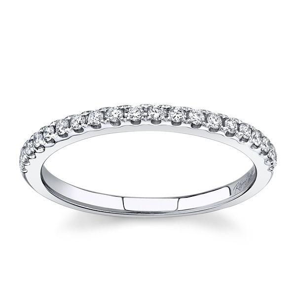 RB Signature 14k White Gold Diamond Wedding Band 1/5 ct. tw.