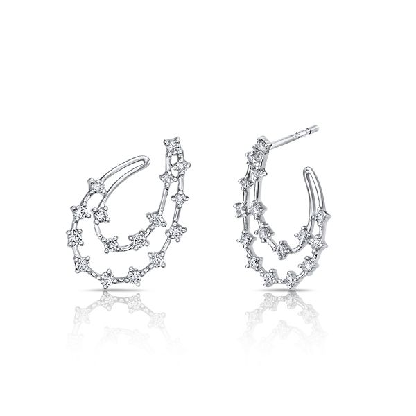 Shy Creation 14k White Gold Earrings 1/2 ct. tw.