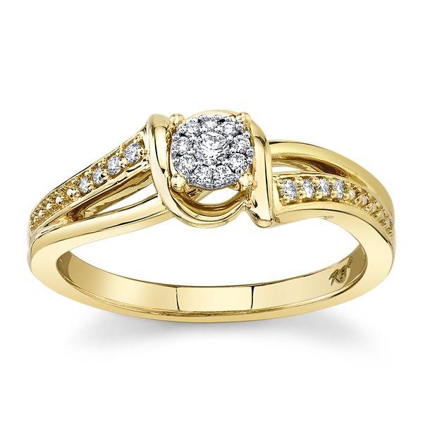 Cherish 10k Yellow Gold Promise Ring 1/10 ct. tw.