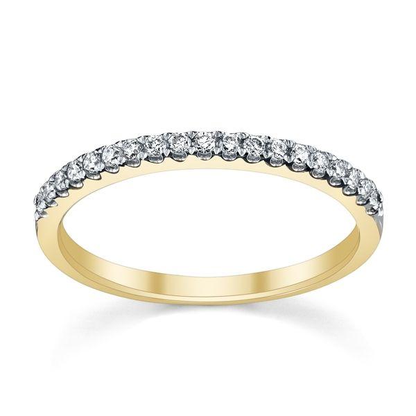 14k Yellow Gold Diamond Wedding Band 1/5 ct. tw.