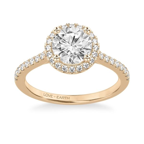 Love Earth 14k Rose Gold Diamond Engagement Ring Setting 1/3 ct. tw.