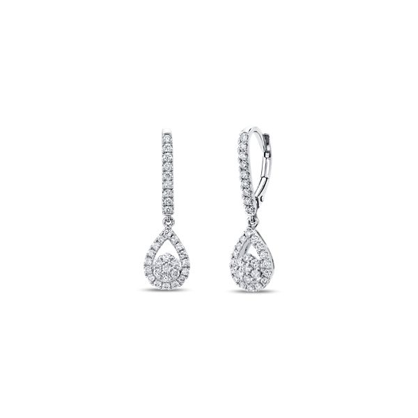 Eternalle Lab-Grown 14k White Gold Earrings 3/4 ct. tw.