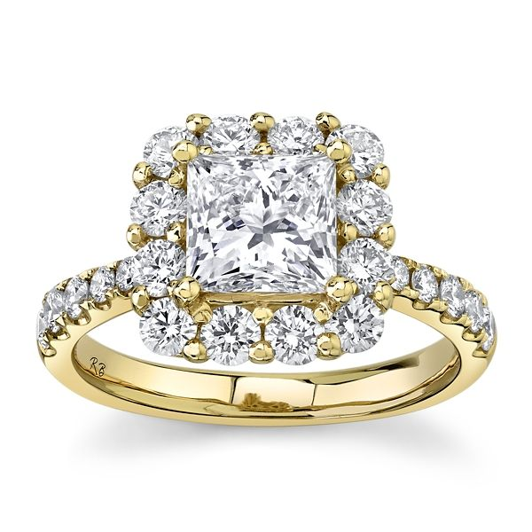 Eternalle Lab-Grown 14k Yellow Gold Diamond Engagement Ring 2 1/2 ct. tw.