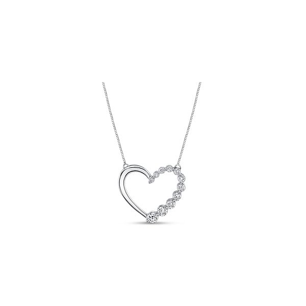 E3 Lab-Grown 14k White Gold Heart Pendant 1/2 ct. tw.