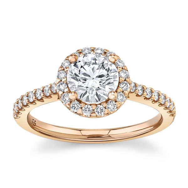 Eternalle Lab-Grown 14k Rose Gold Diamond Engagement Ring 1 1/4 ct. tw.