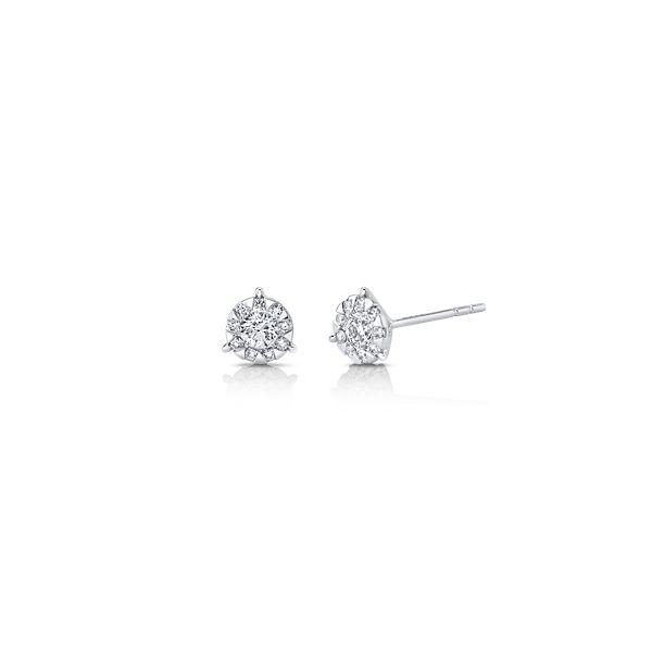 Memoire 18k White Gold Earrings 3/8 ct. tw.
