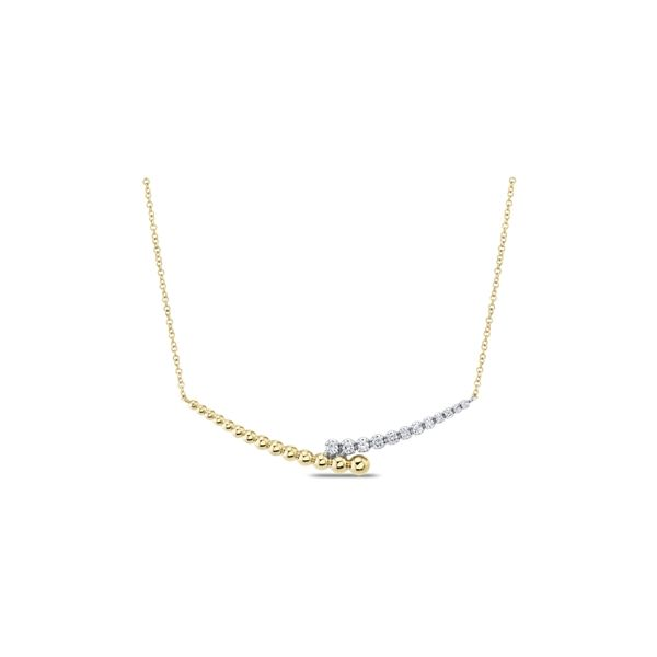 Gabriel & Co. 14k Yellow Gold and 14k White Gold Necklace 1/6 ct. tw.