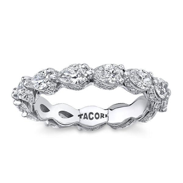 Tacori 18k White Gold Diamond Wedding Band 2 1/4 ct. tw.
