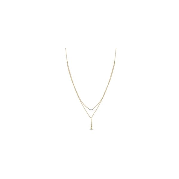 Gabriel & Co. 14k Yellow Gold Necklace .04 ct. tw.