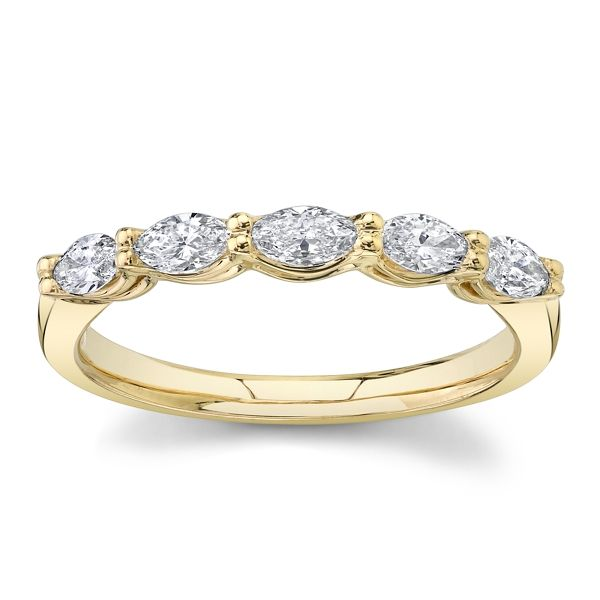 14k Yellow Gold Diamond Wedding Band 1/2 ct. tw.