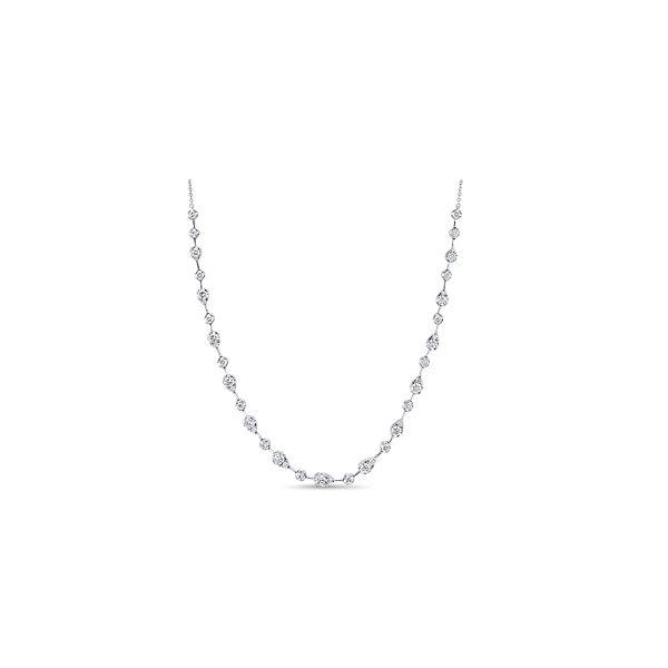 Memoire 18k White Gold Diamond Necklace 2 3/4 ct. tw.