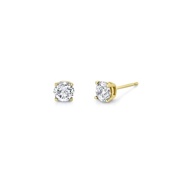 Eternalle Lab-Grown 14k Yellow Gold Solitaire Earrings 1 ct. tw.