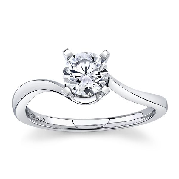 Gabriel & Co. 14k White Gold Diamond Engagement Ring Setting