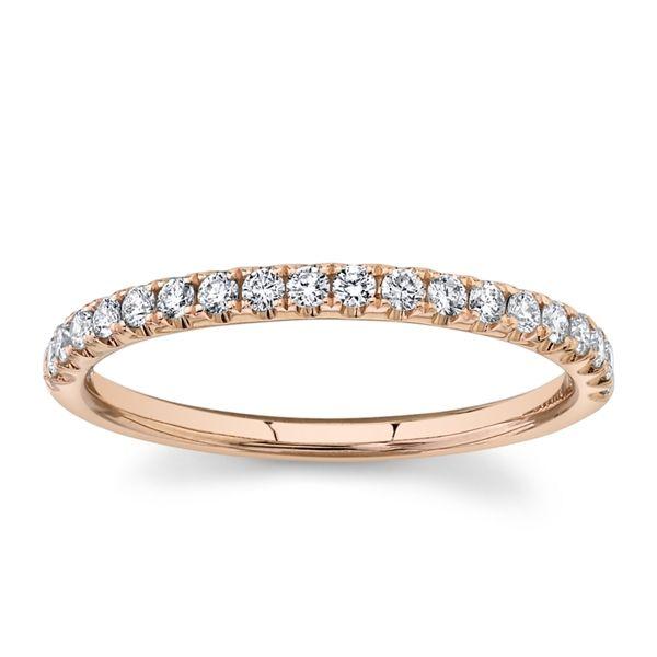 Divine 14k Rose Gold Diamond Wedding Band 1/4 ct. tw.
