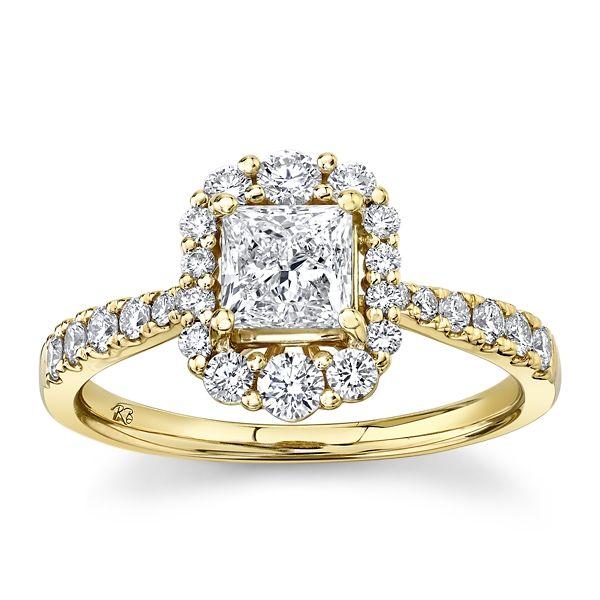 Utwo 14k Yellow Gold Diamond Engagement Ring 1 ct. tw.