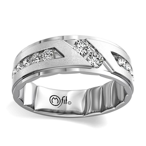 MFit 14k White Gold Diamond Wedding Band 5/8 ct. tw.
