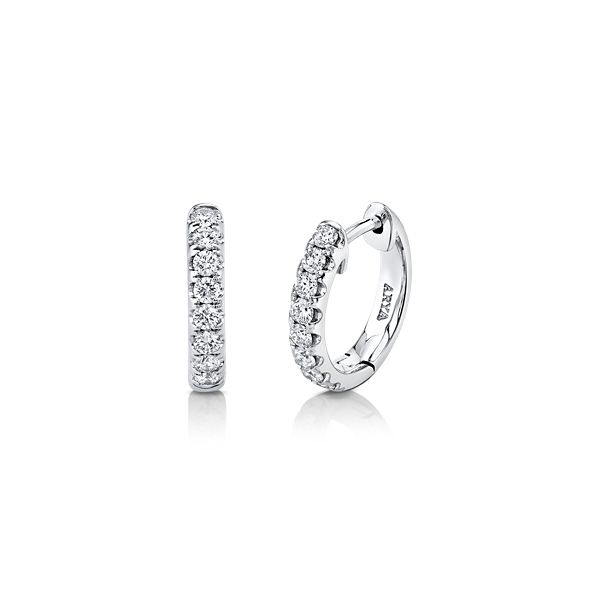 14k White Gold Earrings 1/2 ct. tw.