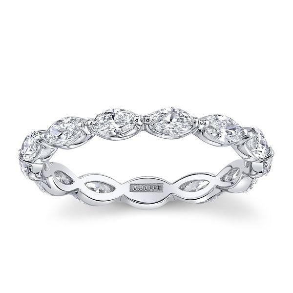 A. Jaffe 18k White Gold Diamond Wedding Band 1 1/4 ct. tw.