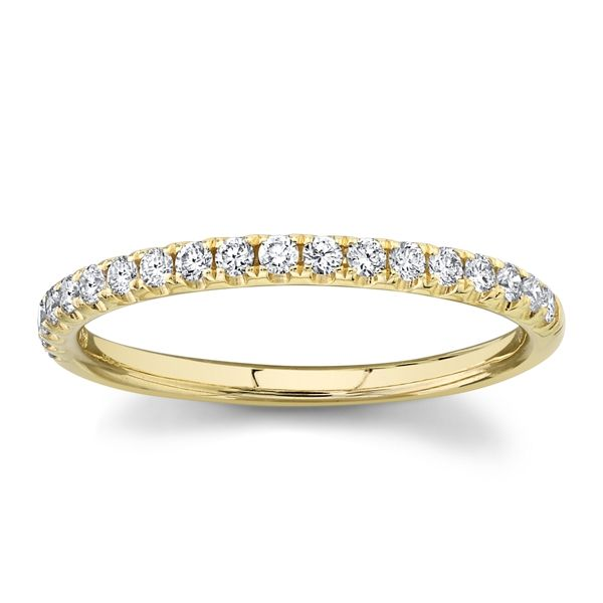 Divine 14k Yellow Gold Diamond Wedding Band 1/4 ct. tw.
