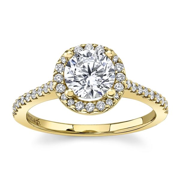 Gabriel & Co. 14k Yellow Gold Diamond Engagement Ring Setting 1/4 ct. tw.