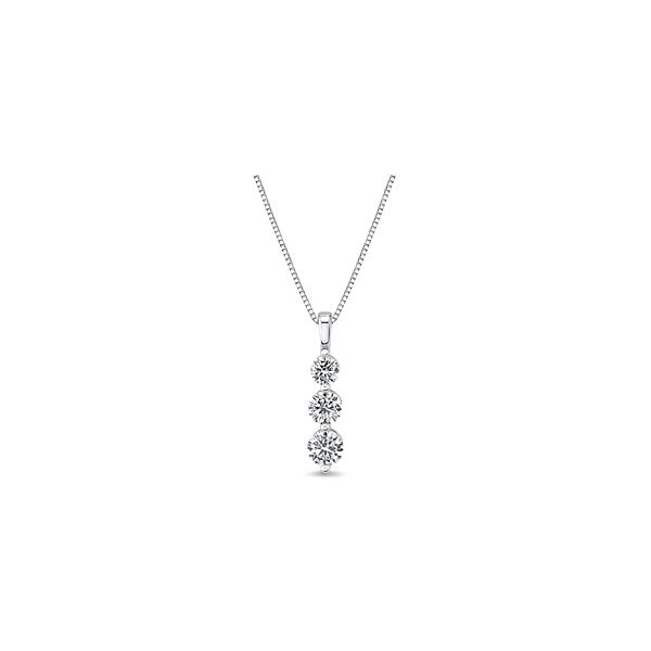 Eternalle Lab-Grown 14k White Gold Pendant 3/4 ct. tw.