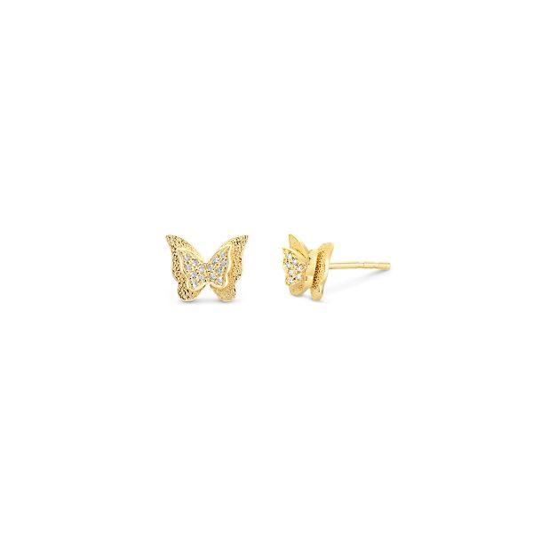 Shy Creation 14k Yellow Gold Earrings 0.05 ct. tw.