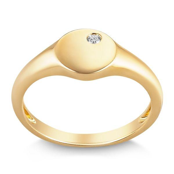 Shy Creation 14k Yellow Gold Diamond Wedding Band 0.02 ct. tw.