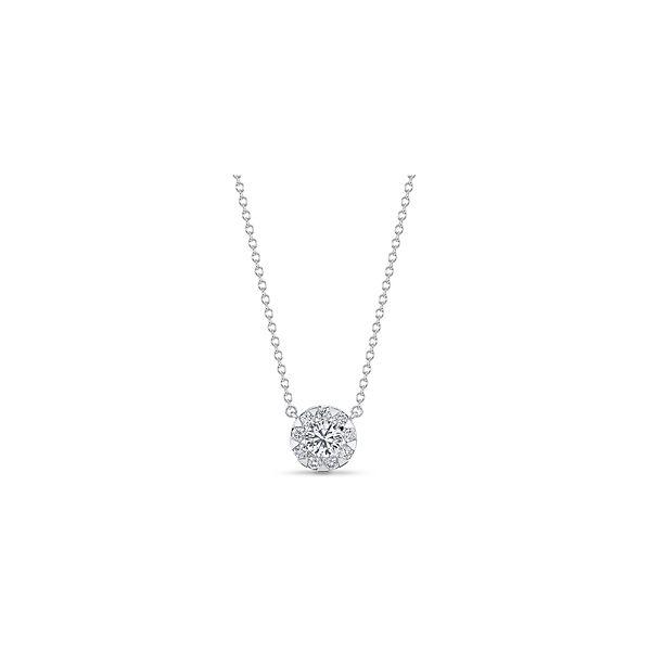 Memoire 18k White Gold Necklace 5/8 ct. tw.