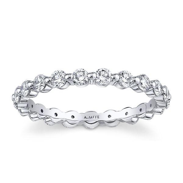 A. Jaffe 18k White Gold Diamond Wedding Band 1 ct. tw.