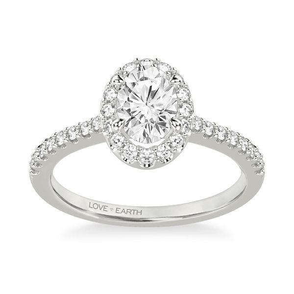 Love Earth 14k White Gold Diamond Engagement Ring Setting 1/3 ct. tw.