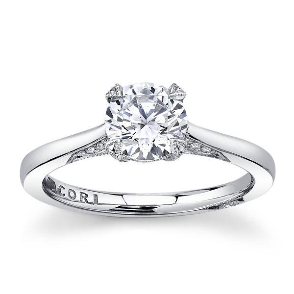 Tacori Platinum Diamond Engagement Ring Setting 1/6 ct. tw.