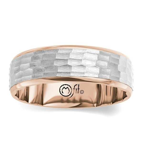 MFit 14k Rose and 14k White Gold 7.5 mm Wedding Band