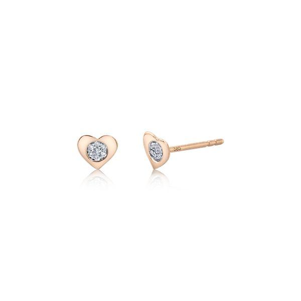 14k Rose Gold Earrings .05 ct. tw.